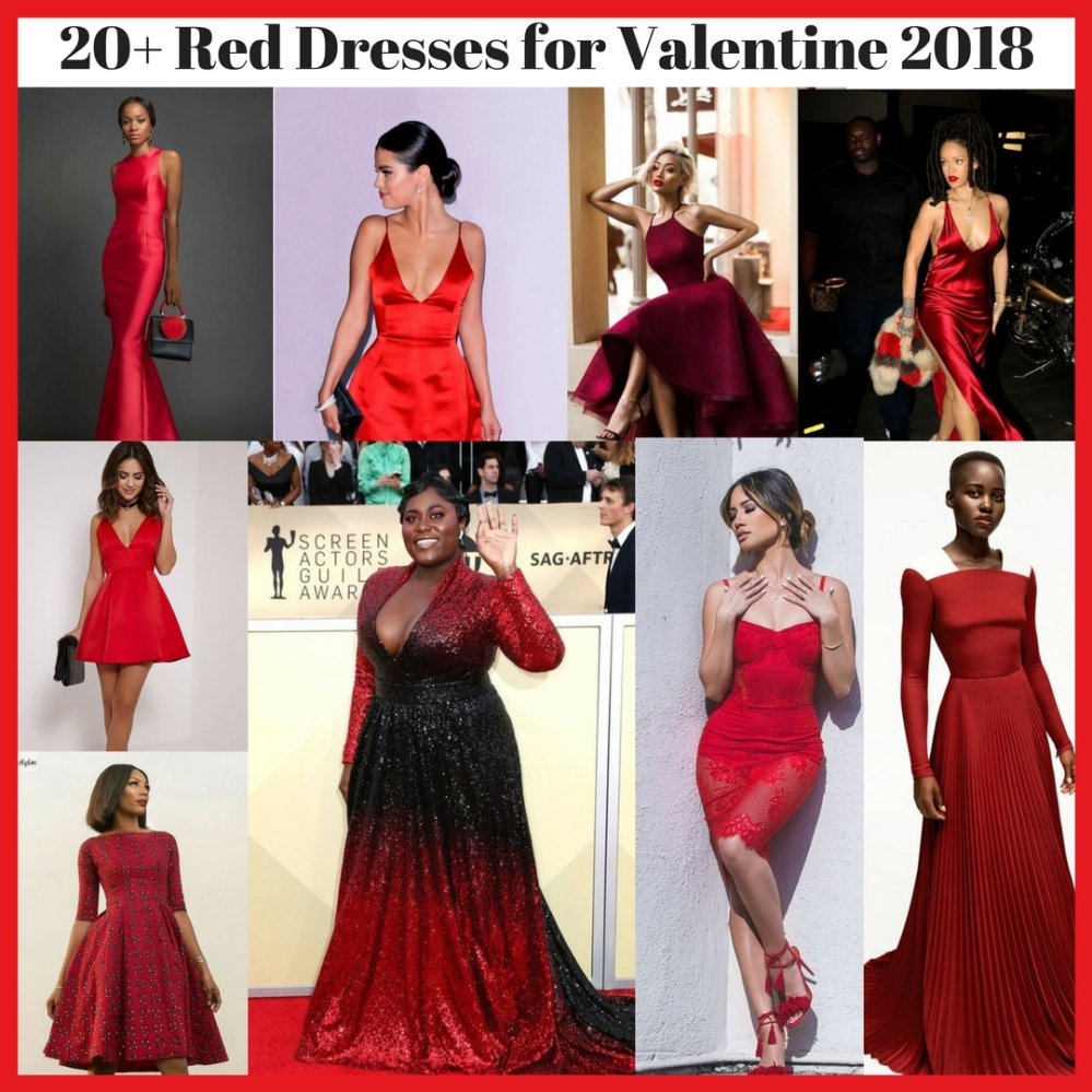 20+ Red Dresses for Valentine 2018